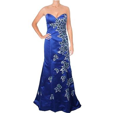 Jovani Rhinestone Strapless Formal Dress - Blue - 12