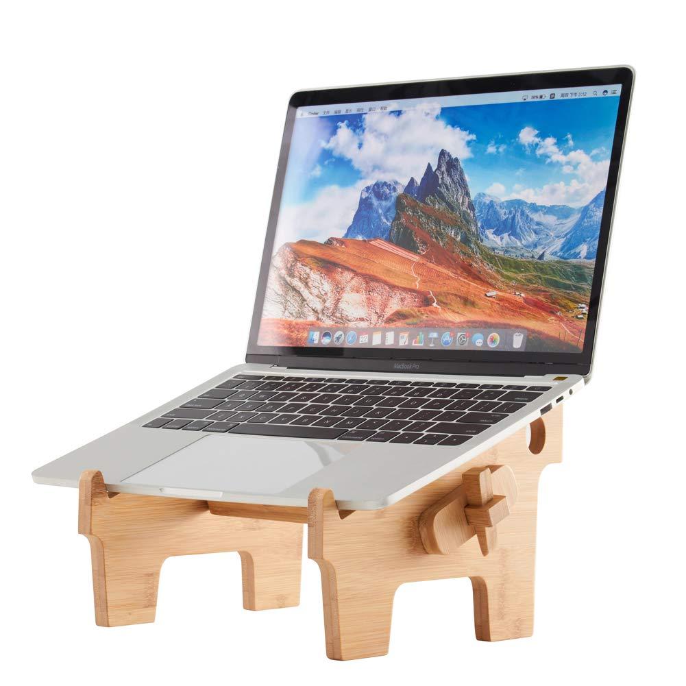 MTWhirldy ノートパソコン用スタンド 机用 ポータブル 折りたたみ式 PCMacBook用 ノートブック用マウント - 天然竹 Laptop Stand NO.C Laptop Stand NO.C  B07PNFJ1YW