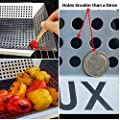 The #1 Vegetable Grill Basket by GRILLUX - BBQ Gift Accessories for Grilling Veggies - Use as Wok, Pan, or Smoker - Quality Stainless Steel - Camping Cookware - Charcoal or Gas Grills OK