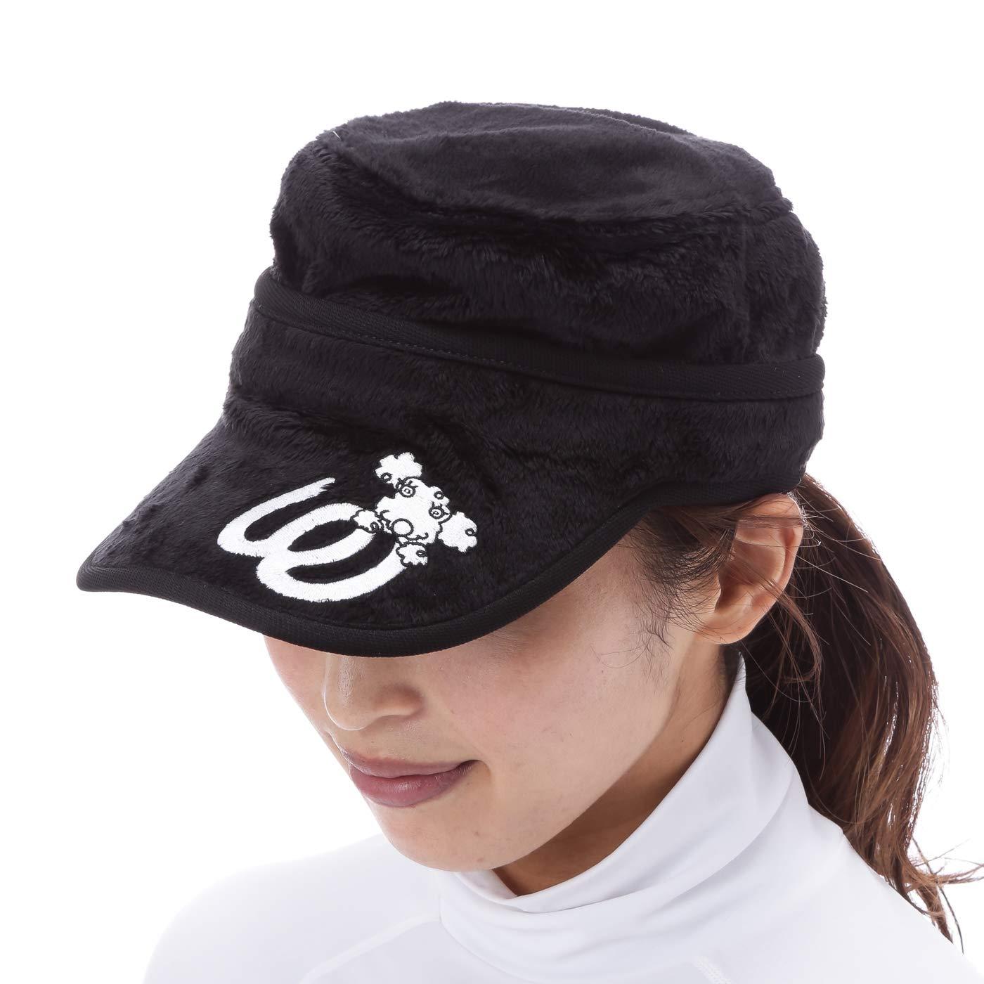 MUスポーツ M.U SPORTS 帽子 2WAYワークキャップ レディス F ブラック B07JHHYMR6