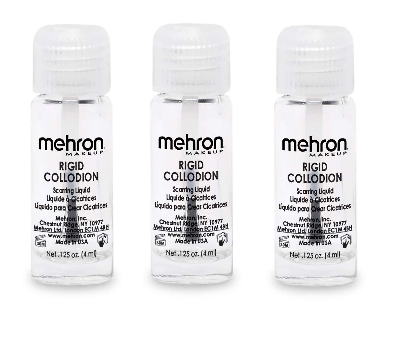 Mehron Rigid Collodion Scarring Liquid - Clear (3-Pack)