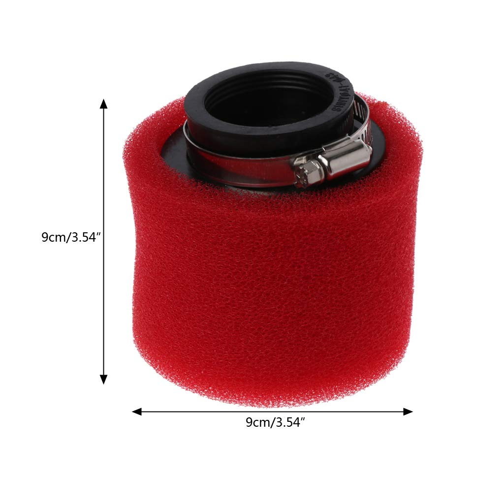 Lifet Air Filter Cleaner Element for Dirt Bike Motorcycle Double Sponge Air Filter Cleaner Straight Neck 35//38//40//42//45//48 mm