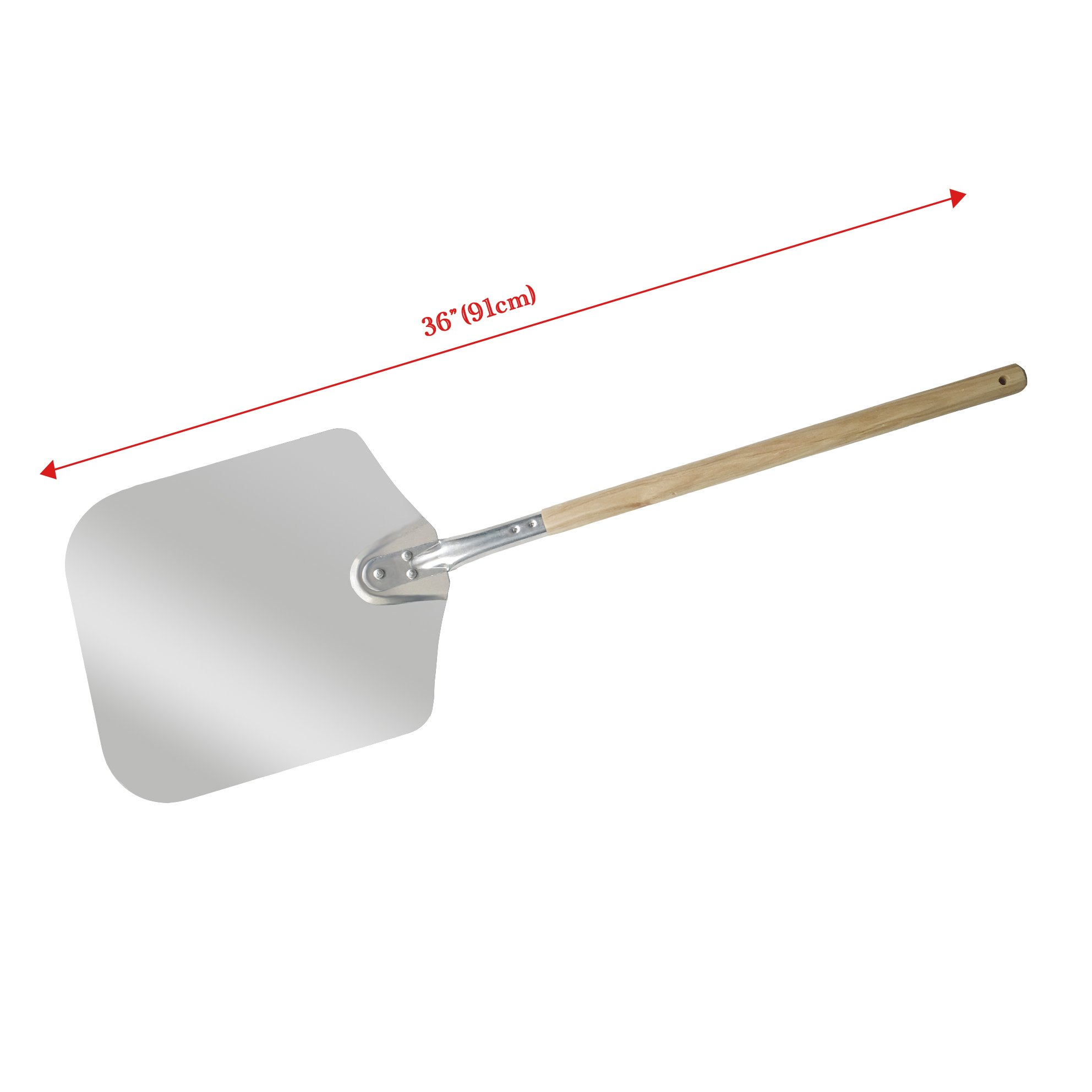 Chef Prosentials Long handle square wooden shank pizza shovel Pizza oven used shovel (36'') by Chef Prosentials