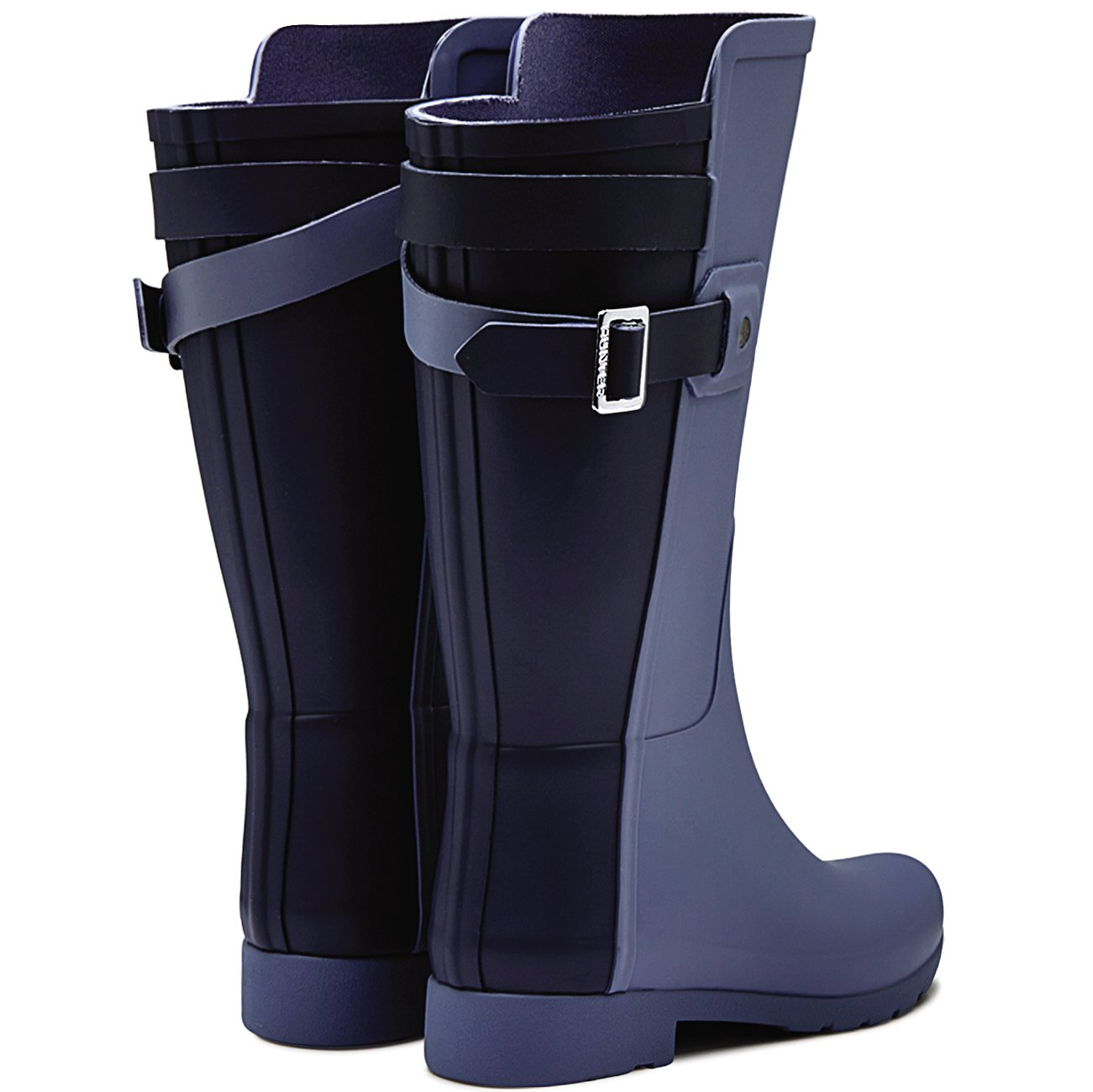 Womens Hunter Original Refined Back Strap Short Wellingtons Winter Boots B015SJCIH0 9 B(M) US Mineral Blue/Midnight