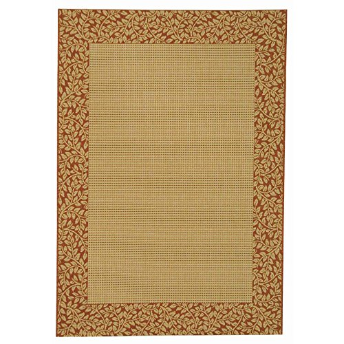 Safavieh Courtyard Collection CY0727-3201 Natural and Terra Indoor/ Outdoor Area Rug (5'3