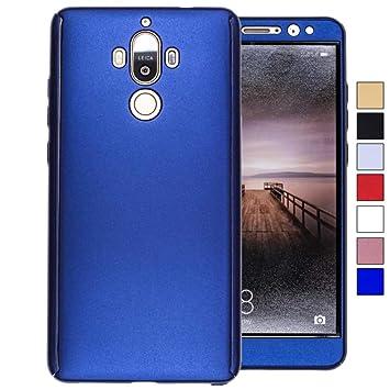 COOVY® Funda para Huawei Mate 9 360 Grados, Carcasa Ultrafina y Ligera, con Protector de Pantalla, protección de Cuerpo Completo | Color Azul