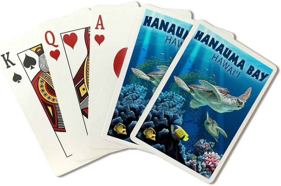 Amazon Com Hanauma Bay Hawai I Sea Turtles Swimming Playing Card Deck 52 Card Poker Size With Jokers Everything Else