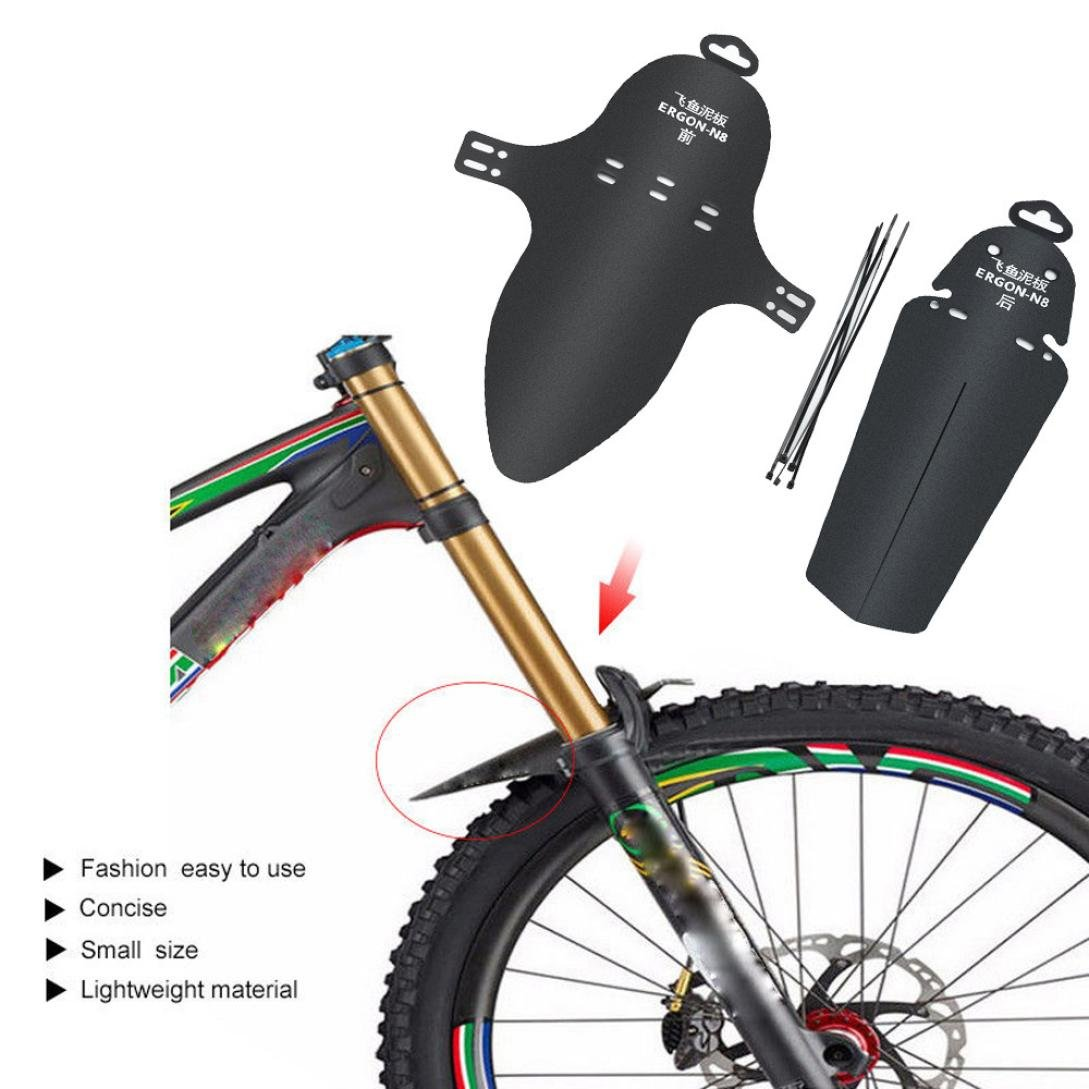 Rucan Bicycle Mudguard, 1 Set Cycling MTB Mountain Bike Bicycle Front + Rear Mud Guards Mudguard Fenders