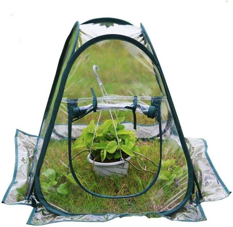 Invernadero De Jardín Portátil Plegable Mini PVC Transparente Planta De Jardín Cubierta De Flores Carpa para Jardinería Al Aire Libre En Invernadero De Invernadero,27 * 27 * 31in