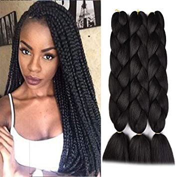 Amazon Com Synthetic Braiding Hair Jumbo Ombre Twist Braids 24 Inches 100g Pc 100 Kanekalon Fiber For Twist Braiding Hair Beauty