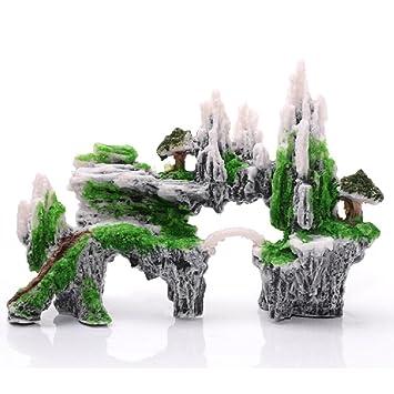 JUZIPI Decoración para Acuario con Decoración de Acuario y Plantas para peceras y Peces, Ideal