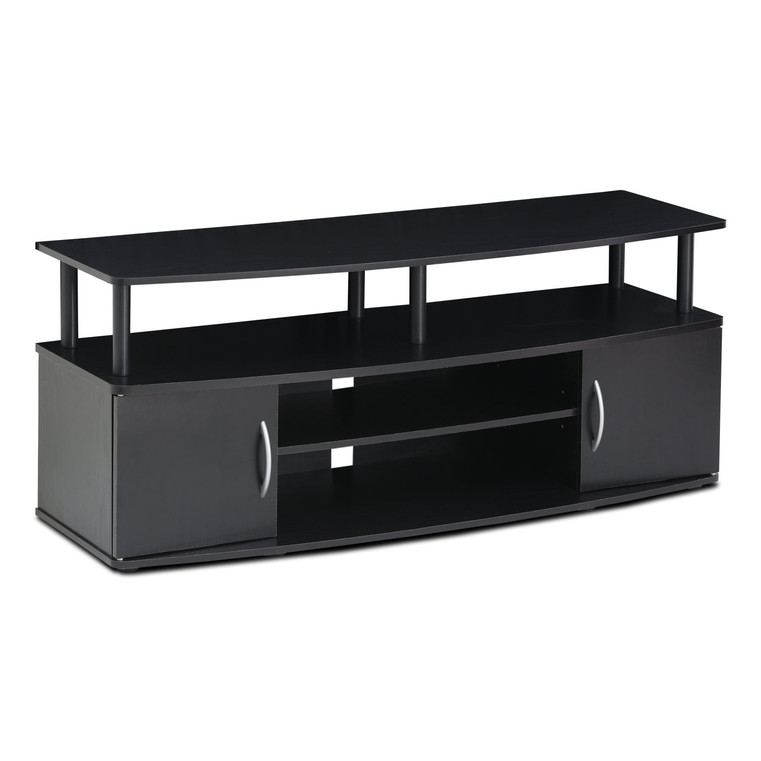 50 Inch Entertainment Center Part - 47: Amazon.com: FURINNO Furinno JAYA Large Entertainment Center Hold Up To 50-IN  TV, 15113BKW: Kitchen U0026 Dining