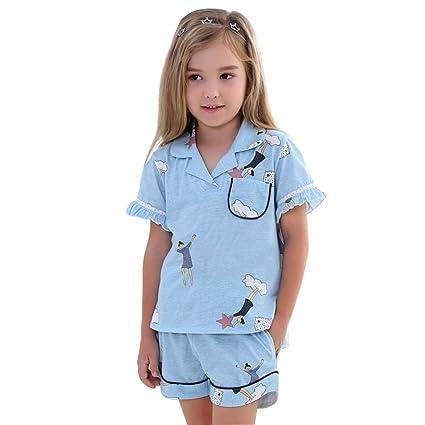 Pijamas Pijamas de los Niños Pijamas del Algodón del Verano Traje de Aire Acondicionado del bebé