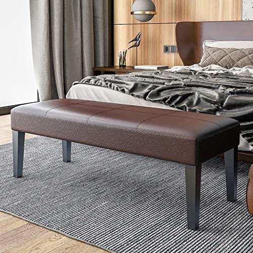 靴のベンチ、寝室の長方形のベッドエンドスツールフットベッドフロントベッドロングベンチソファベンチ、100/120 * 40 * 40 Cm (Color : Black, Size : 120*40*40cm)