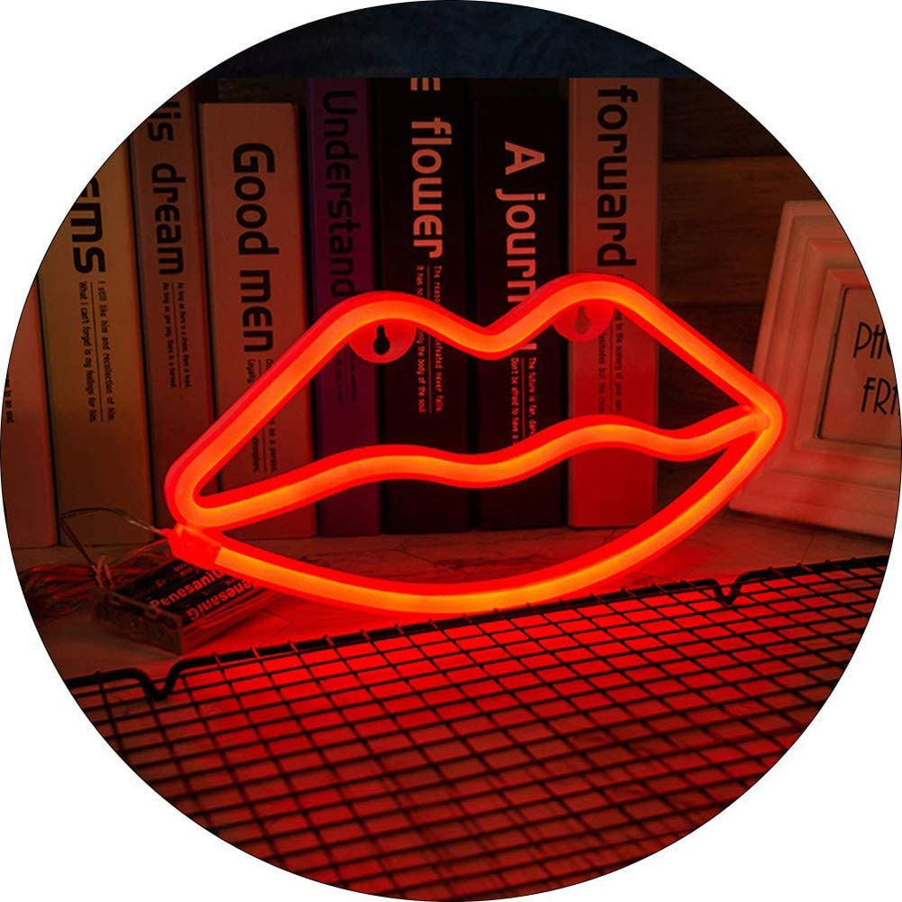 ENUOLI LED Neon Light Sign Cloud Neon Sign and Lightning Neon Sign Combination Warm White Hanging Neon Mood Lighting Battery//USB Operated Neon Night Light Christmas Light for Wedding Home Party Decor