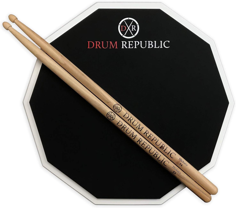 Drum Pad And Sticks Practice Pad By Drum Republic