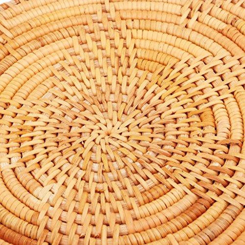 de Bolsa Mano Crossbody de Tejido Playa IPOTCH Bolsa Mujeres Hombro 01 de Paja de Ronda Verano Calidad Ratán a Alta Vietnam 7qqYwB6