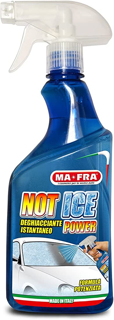 Deghiacciante spray ma-fra,not ice power adatto per ogni genere di vetro e cristallo dell`auto, formato 500ml HN082