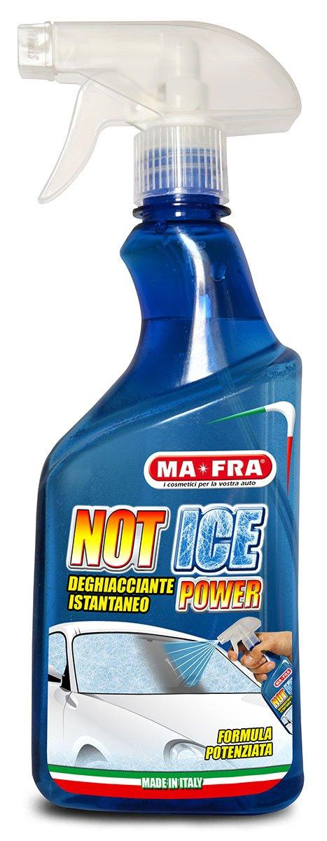 Mafra, Not Ice Power, Deghiacciante Liquido ad Effetto Immediato, Facile e Veloce da Utilizzare, Adatto per Ogni Genere di Vetro e Cristallo dell'Auto, Formato 500ml