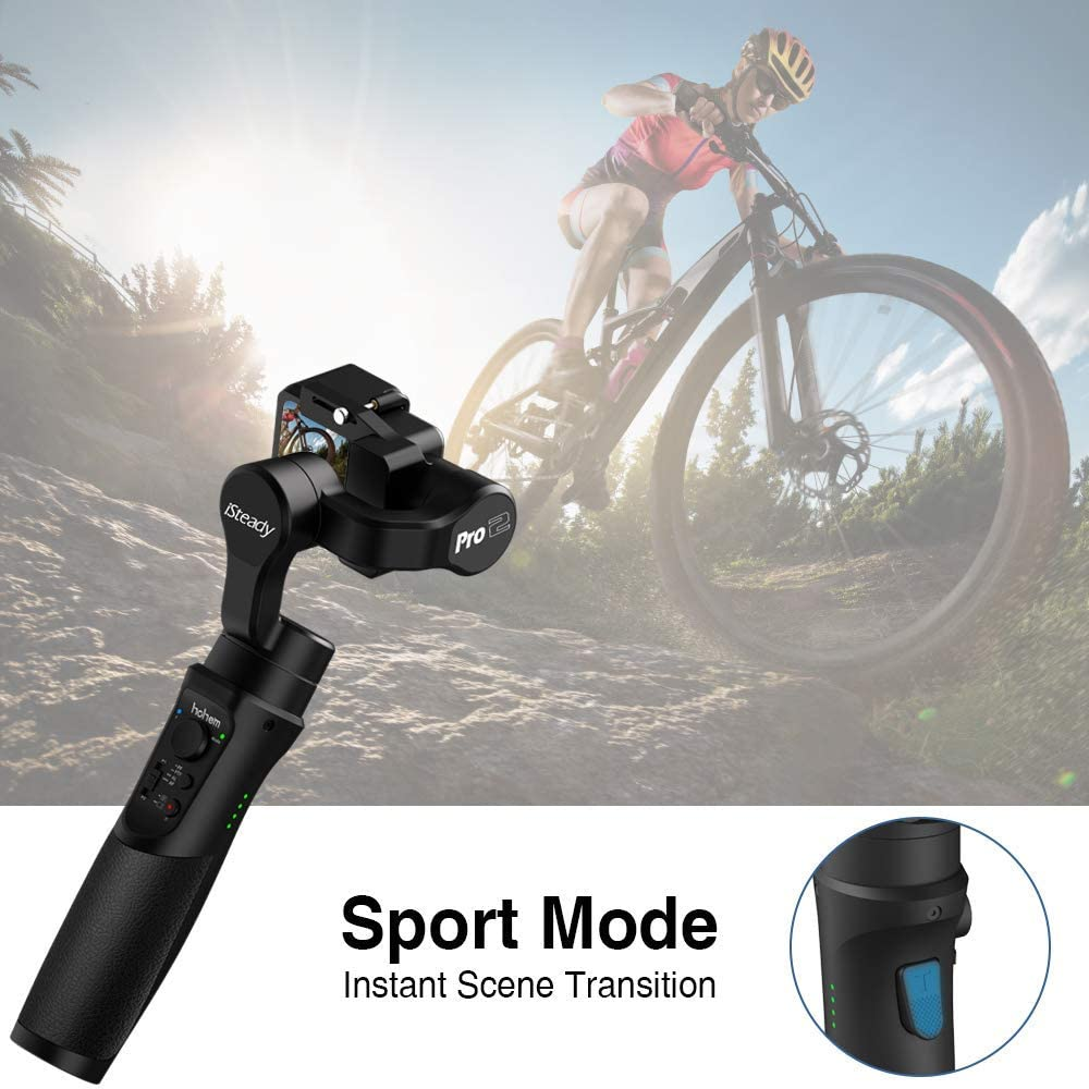 Hohem iSteady Pro 2 3-Axis Handheld Action Camera Gimbal ...