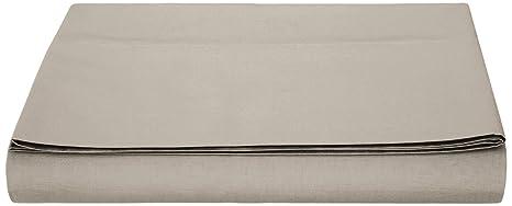 AmazonBasics - Sábana encimera (polialgodón 200 hilos) Gris - 180 x 260 + 10