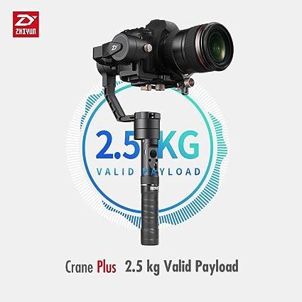 Zhiyun grúa Plus (grúa V2 Upgrade Versión) 3 ejes Handheld Gimbal ...