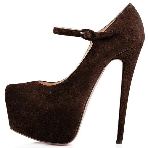 1780be7fd34 Joogo Women Mary Jane Platform Pumps Ankle Strap Stiletto High Heels ...
