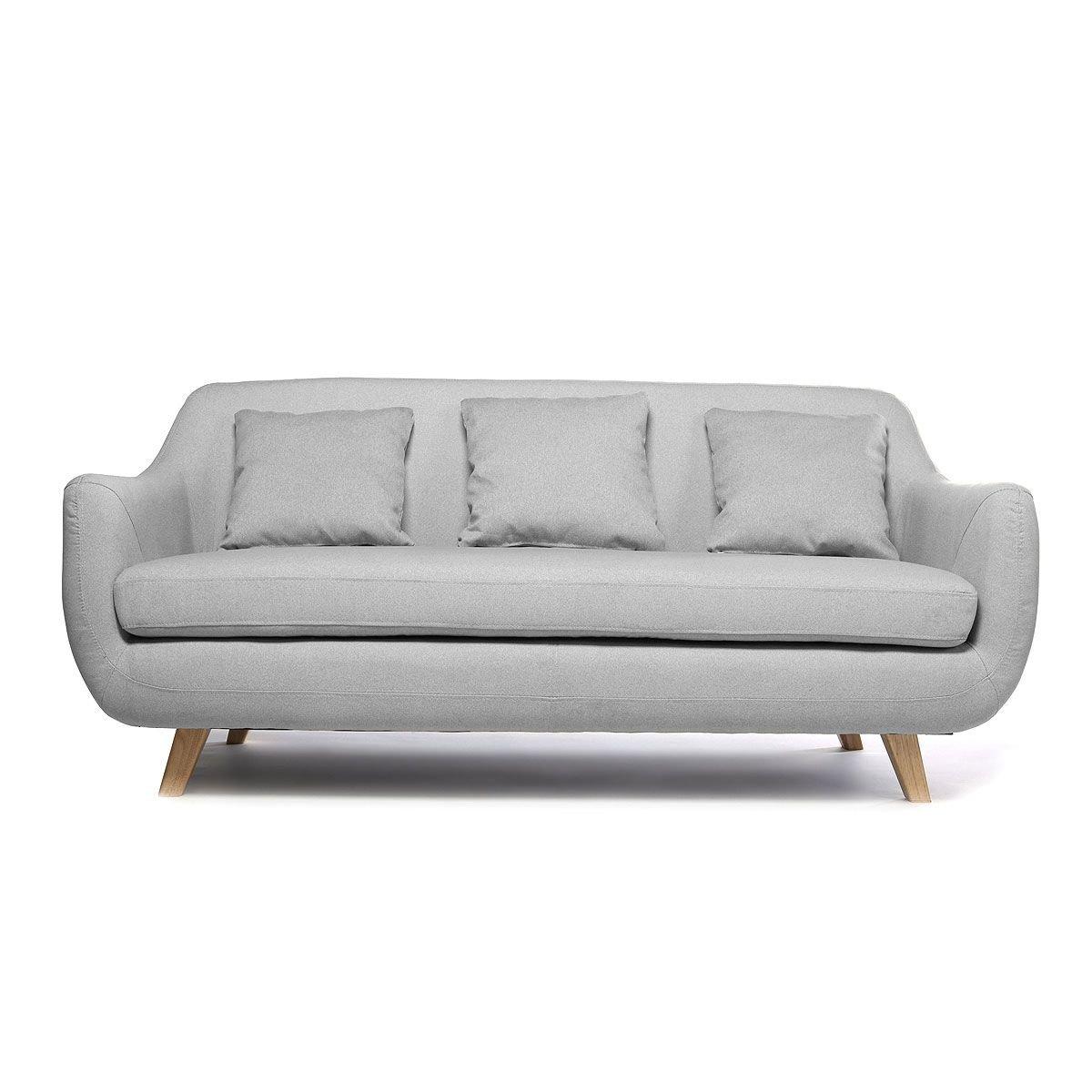 Miliboo - Sofá diseño escandinavo 3 plazas gris SKANDI ...