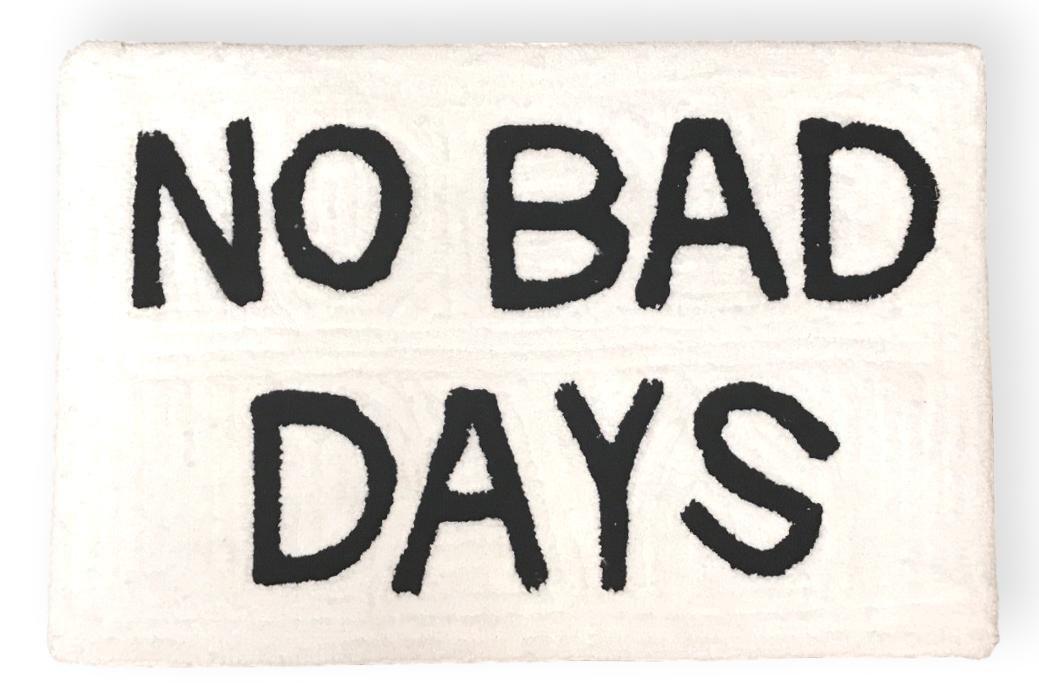 Gypsy Dreamer Microfiber Bath Mat Throw Rug Slip Resistant Backing Cotton Blend No Bad Days 30 by 20