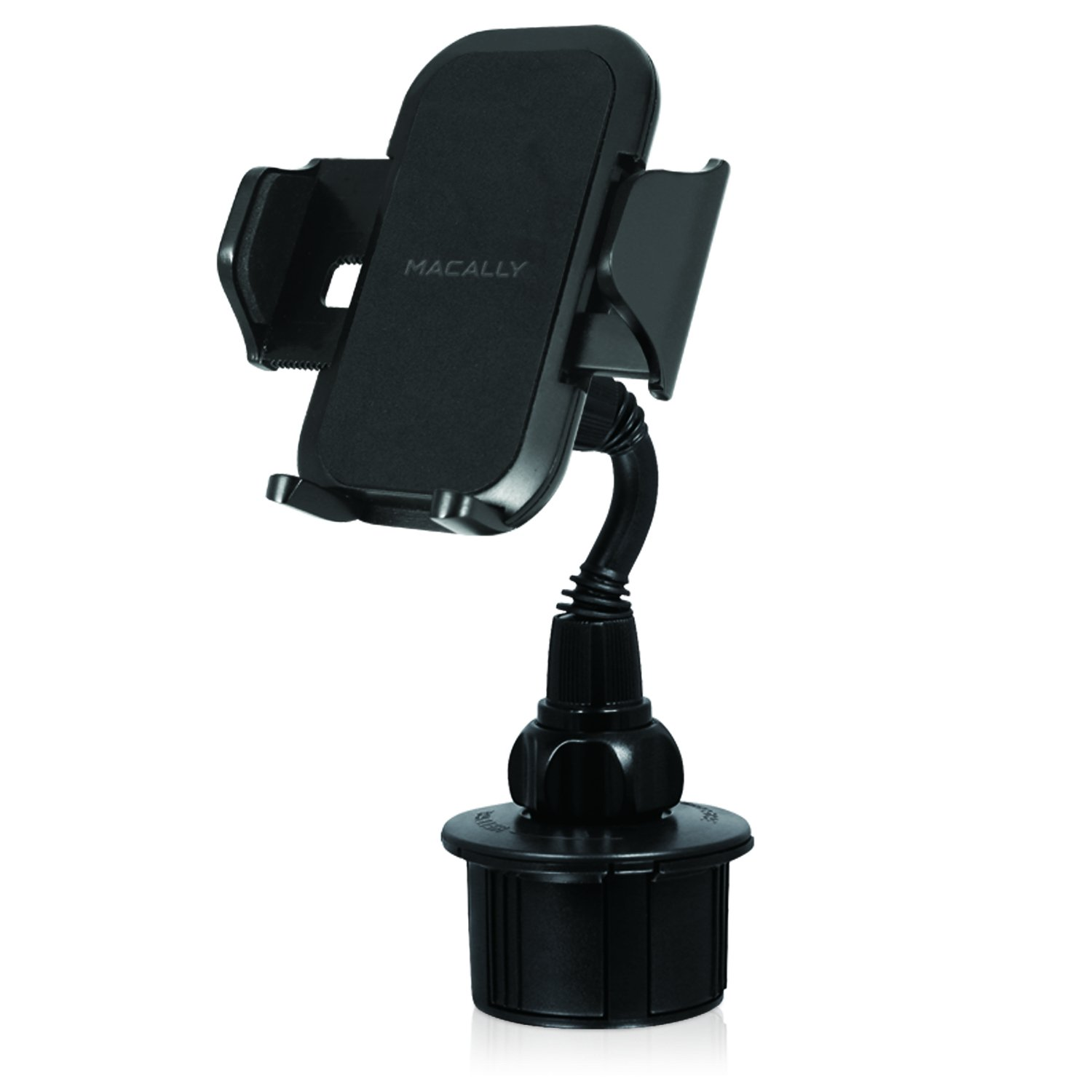 Macally Car Cell Phone Cup Holder Mount for Apple iPhone X 8 8+ 7 7 Plus 6s 6 SE, Samsung S9 S9+Note 8 Galaxy S8/S8+, LG, Nexus, Smartphones, GPS, etc. (MCUP)
