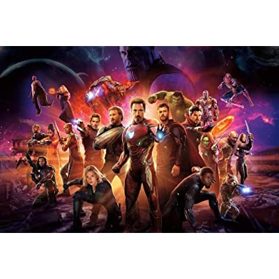 Adult children puzzle toy Avengers Poster, Wooden Jigsaw puzzle Puzzles, Infinity War Movie Stills, Basswood Perfect Cut & Fit, 300/1000 Pieces Boxed Photography Toys Game Art Painting For Adults & Ki: Home & Kitchen