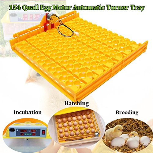 Katoot@ 154 Bird Eggs Turner Tray 110V Motor Automatic Tray Equipment Quail Miniature Eggs Poultry IncubatorIncubation Tools