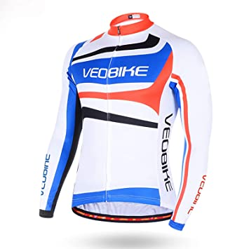 Beydodo Chaqueta Ciclismo Hombre Traje de Montar Moto Blanco Al ...