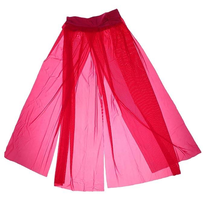 16330b0b9e Phenovo Fashionable Charming Mesh Cover Up Dress Beach Maxi Skirt Veil  Sarong Dress Swimwear Rose Red: Amazon.in: Clothing & Accessories