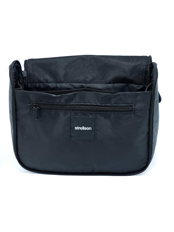 Herren-accessoires Strellson Northwood Washbag Lhz Kulturbeutel Tasche Dark Grey Grau Schwarz Neu Reisen