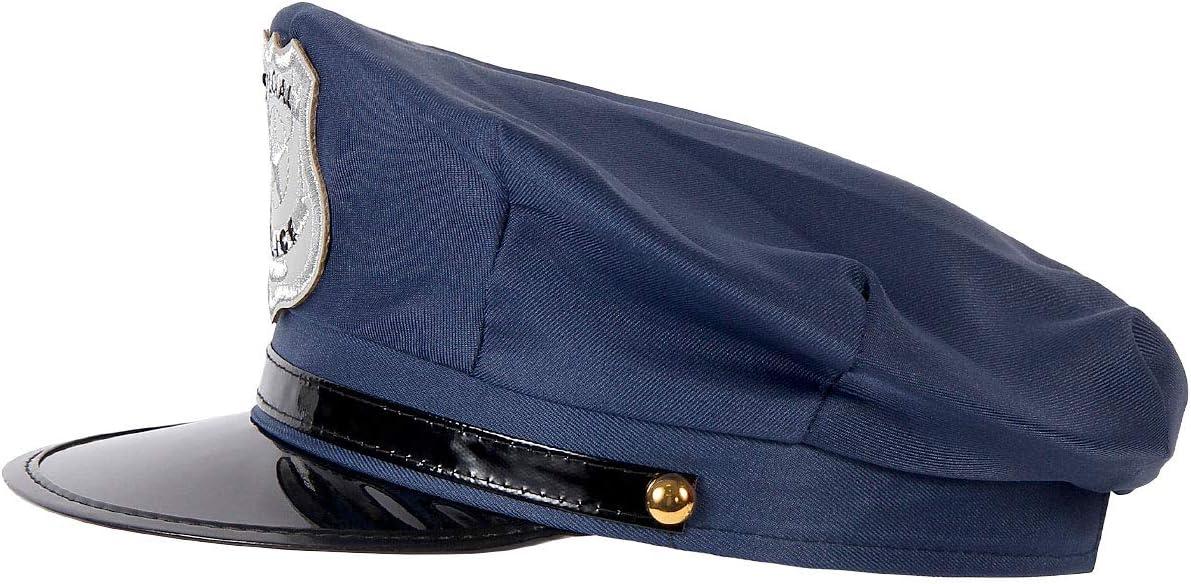 Polizeihut pour enfants-bleu-Policier Casquette Déguisement Carnaval