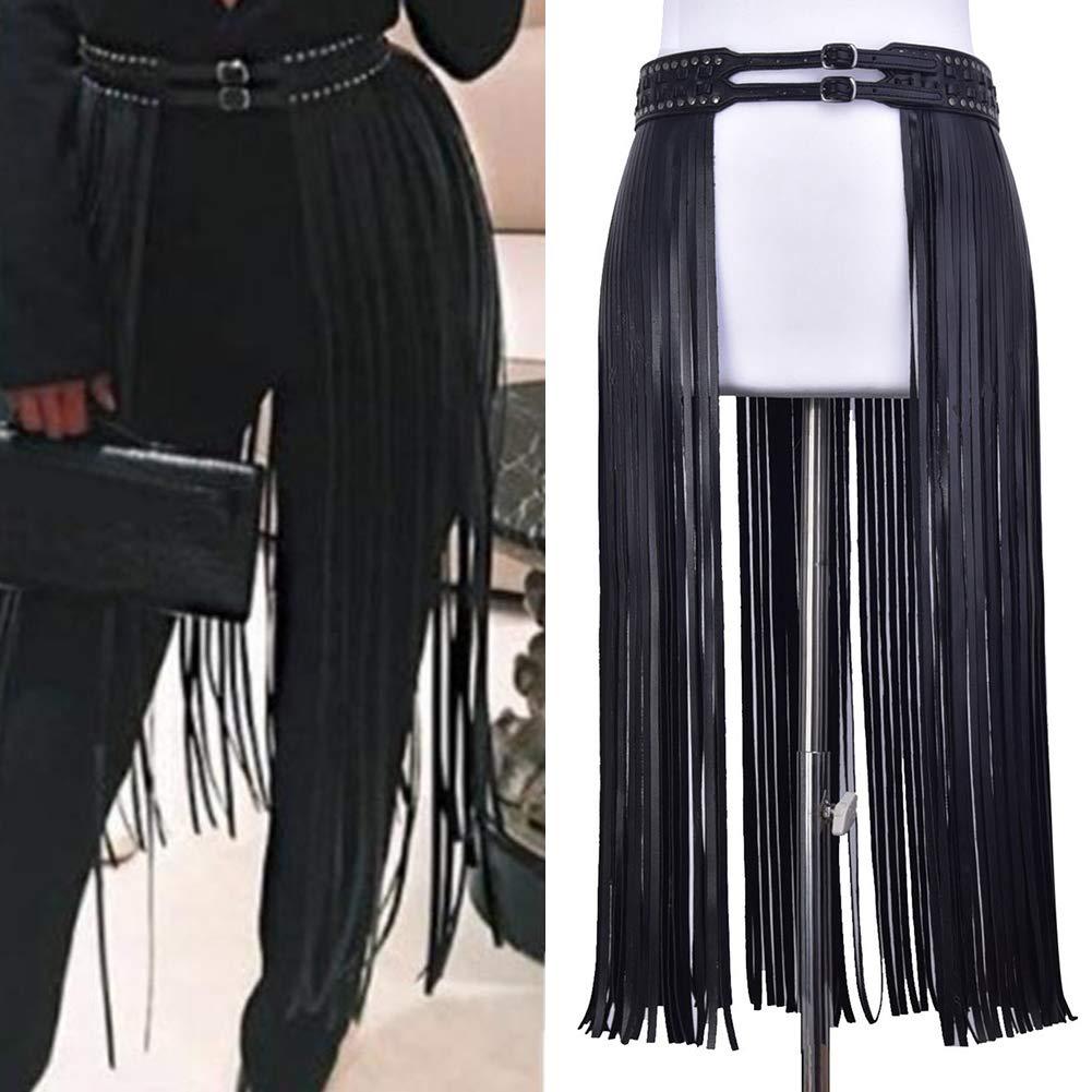 Hippie - Cinturón largo de borla para mujer, con flecos ...