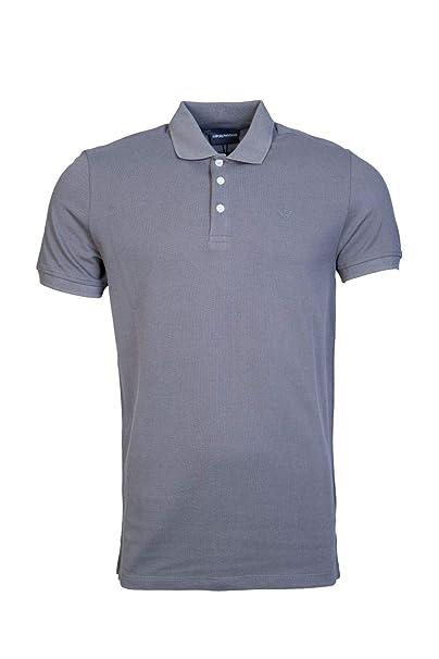Emporio Armani - Polo - Camisas De Polo - Liso - Clásico - Manga Corta -  para Hombre Gris Gris L  Amazon.es  Ropa y accesorios 084d0b5e149c4