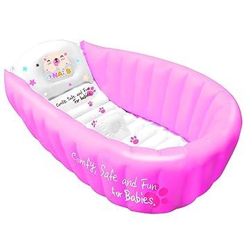 Amazon.com : Nai-B Hamster Inflatable Baby Bathtub, Pink : Baby