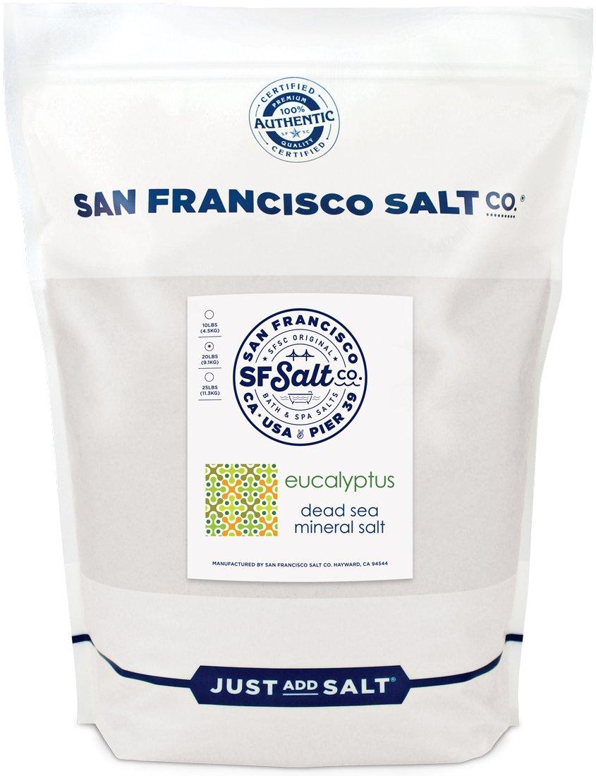 Eucalyptus Dead Sea Salt - 20 lb. Bag by San Francisco Salt Company by San Francisco Bath Salt Company