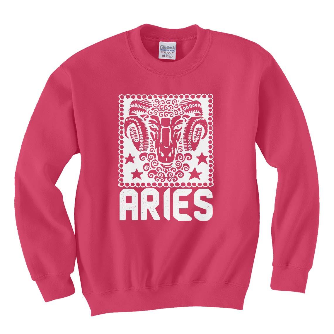 Indica Plateau Aries Zodiac Astrology Unisex Kids Sweatshirt