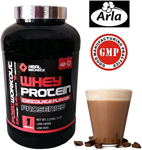 Whey Protein Proteina Suero ProSeries Post WorkOut PREMIUM Arla GMP HealSecrets (CHOCOLATE)
