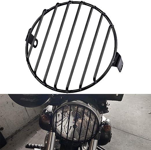 Natgic Motorrad Scheinwerfergitter Aus Metall Universell 17 8 Cm Für 8 Mm 10 Mm Seitliche Befestigungsschraube Auto
