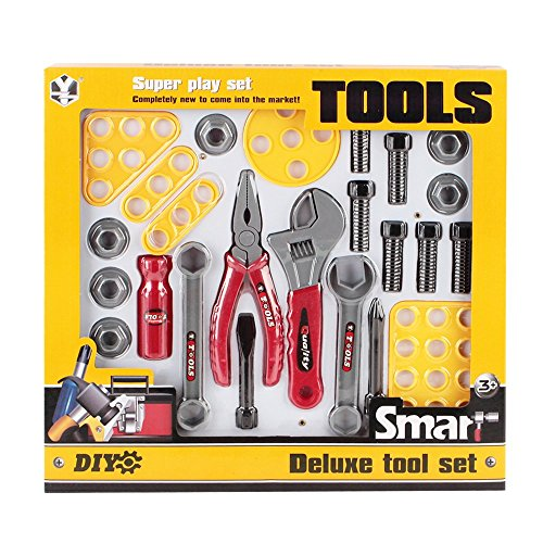 Deluxe Construction Tool Set For Kids With 23 Pieces by Everpurpose (Woodworking Tools For Kids compare prices)