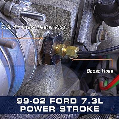 GlowShift Air Intake Heater Boost Plug Sensor Thread Adapter for 1999.5-2002 7.3L Ford Power Stroke & 2001-2004 6.6L GM LB7 Duramax Diesel: Automotive