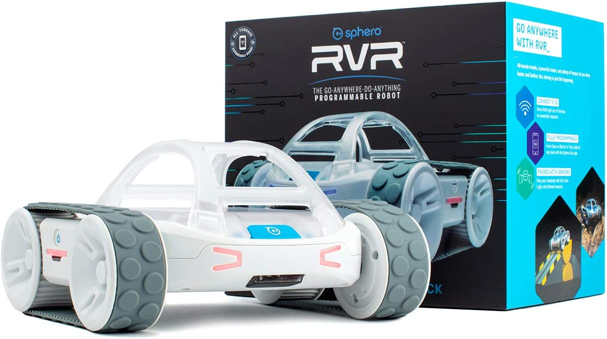 Sphero RVR: All-Terrain Programmable Coding Robot with Customizable Hardware Platform - STEM Educational Robot for Beginners, Builders & Hackers - Micro:bit, Arduino, Raspberry Pi Compatible