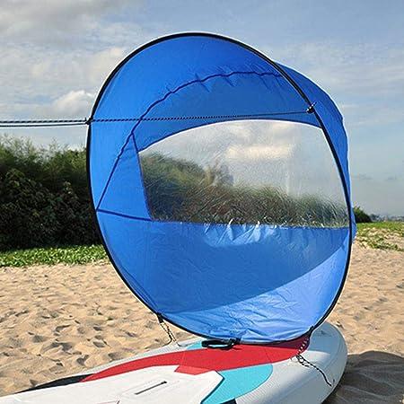 "42""Kit de Vela de Viento a Favor del Viento Kayak Plegable Wind Sail Kayak Paddle Board Accesorios con Bolsa de Almacenamiento, para Kayak Boat Sailboat Canoe"