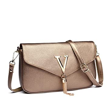 fd7683d8902a Amazon.com   GMYANDJB Shoulder Bags Luxury Brand Women Shoulder Bags  Genuine Leather Bags Female Handbags Women Ladies Messenger Bags Women s  Clutch - Black ...