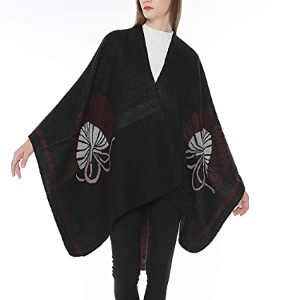 Amazon.com : Womens Coats Winter Clearance!Besde Womens Fashion Casual Warm Lightweight Outwear Bohemia Tassels Knitted Cashmere Ponchos Shawl Elegant ...