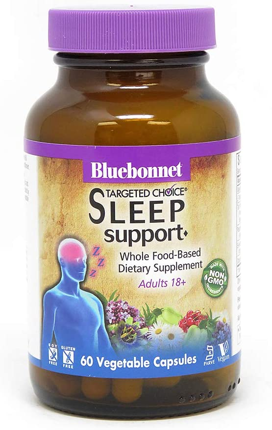 Bluebonnet Nutrition Targeted Choice Sleep Support Herbal Blend, 60 Count